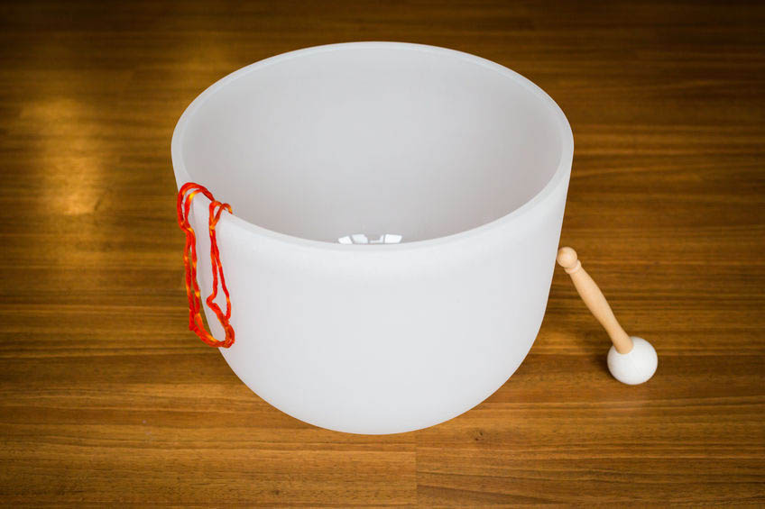 Big crystal singing bowl